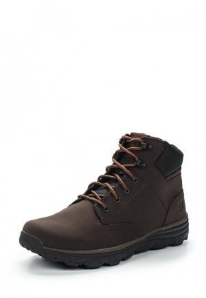 Ботинки Skechers. Цвет: коричневый
