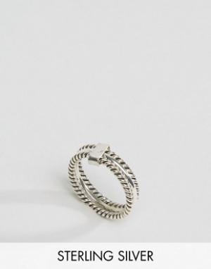 Kingsley Ryan Тройное серебряное кольцо. Цвет: серебряный