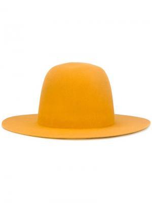 Шляпа с широкими полями Études. Цвет: жёлтый и оранжевый