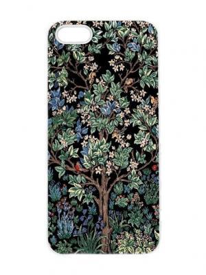 Чехол для iPhone 5/5s Гобеленовое дерево Арт. IP5-238 Chocopony. Цвет: белый, черный, синий, зеленый