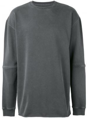 Oversized seam panel sweater Maharishi. Цвет: серый