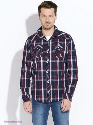 Рубашка Mezaguz. Цвет: бордовый