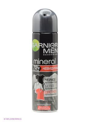 Дезодорант-антиперспирант спрей Mineral, Невидимый: Черное, белое, цветное, невидимый, защита 72 ч Garnier. Цвет: прозрачный