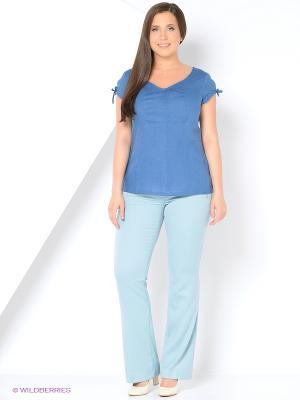 Блуза LINO RUSSO. Цвет: синий