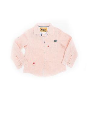 Детская рубашка Pilota. Цвет: оранжевый