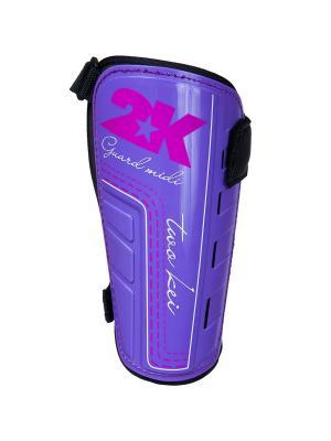 Щитки футбольные Guard Midi Pro 2K. Цвет: черный, фиолетовый, розовый