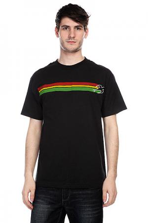 Футболка  Stripes Black Innes. Цвет: черный