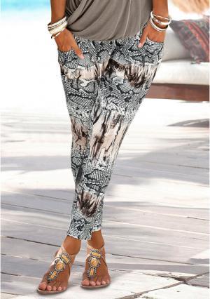 Пляжные брюки Lascana. Цвет: с рисунком