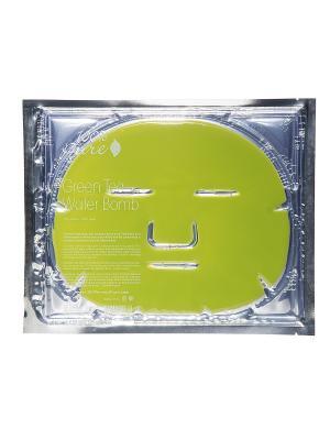 Набор восстанавливающих масок для лица: Зеленый Чай, 5 шт по 60 гр 100% Pure. Цвет: салатовый