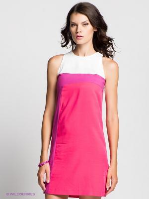 Платье Verezo. Цвет: розовый, белый, фуксия