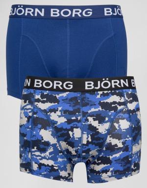 Bjorn Borg 2 пары боксеров-брифов. Цвет: черный