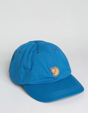 Fjallraven Синяя кепка Helags. Цвет: синий