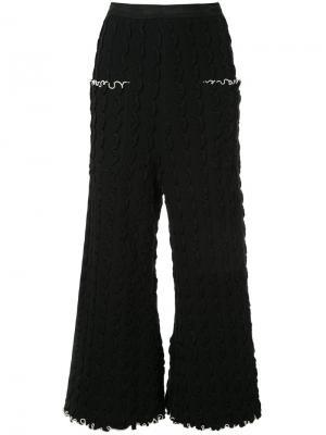 Укороченные брюки с оборками Theatre Products. Цвет: чёрный