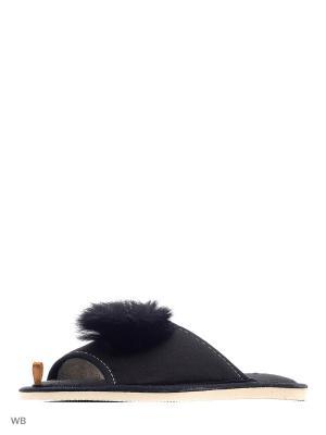 Тапочки DOMINO. Цвет: черный