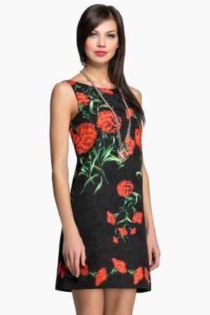 Платье с ожерельем AR1-142838 Babylon. Цвет: разноцветный