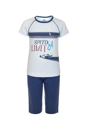 Пижама BAYKAR. Цвет: синий