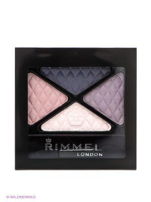 Четверные Тени для век GlamEyes Colour Rush Quad Eye Shadow 003 тон Rimmel. Цвет: коричневый, бежевый