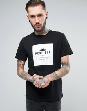 Penfield Черная свободная футболка с логотипом Kemp. Цвет: черный