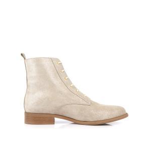 Ботинки кожаные Chalou MELLOW YELLOW. Цвет: бежевый