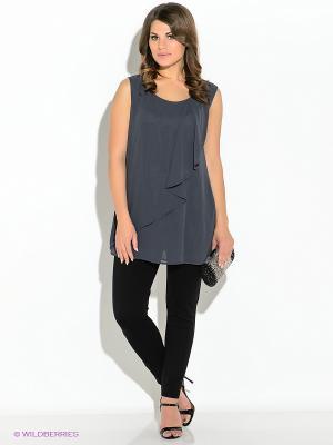 Блузка Vera Mont. Цвет: темно-серый