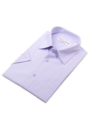 Рубашка Pierre Lauren. Цвет: сиреневый