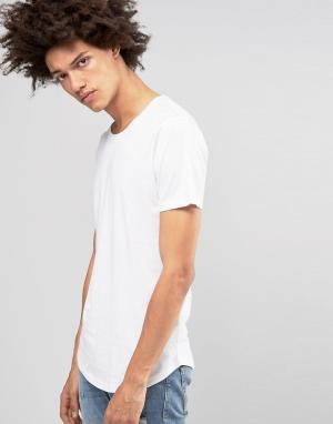 Troy Длинная футболка. Цвет: белый
