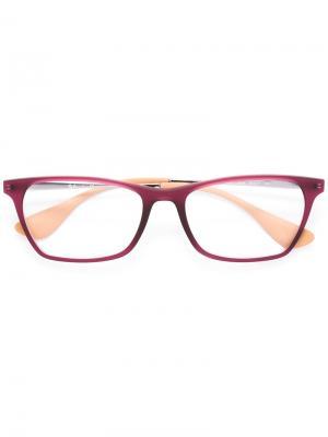 Очки в квадратной оправе Ray-Ban. Цвет: розовый и фиолетовый