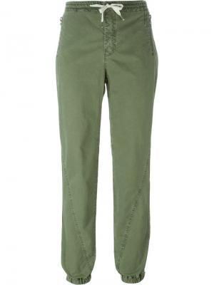 Зауженные к низу брюки с эластичным поясом Ermanno Scervino. Цвет: зелёный
