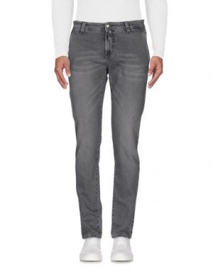 Джинсовые брюки NICWAVE. Цвет: серый