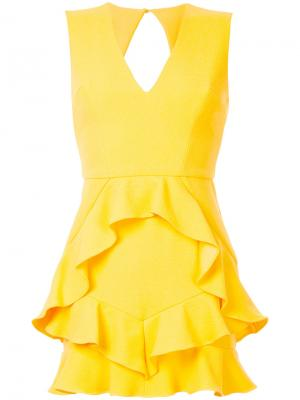 Платье-мини Havana Rebecca Vallance. Цвет: жёлтый и оранжевый