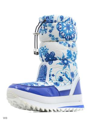 Дутики Mon Ami. Цвет: голубой, белый