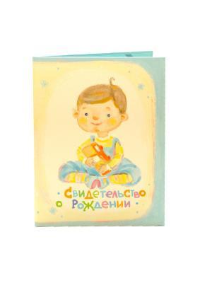Авторская обложка для свидетельства о рождении Малыш Dream Service. Цвет: голубой