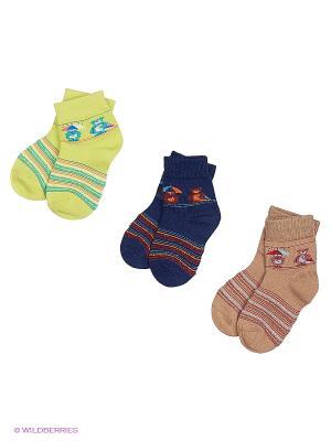 Носки 3 пары Master Socks. Цвет: темно-синий, салатовый, бежевый
