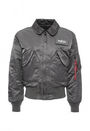 Куртка утепленная Alpha Industries. Цвет: серый
