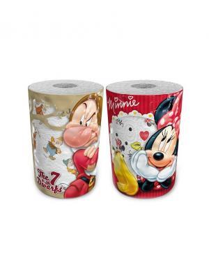 Набор из 2х бумажных полотенец 7 гномов и Минни Маус 3-х слойные, 2 рул/150 листов World Cart. Цвет: белый