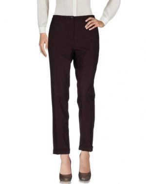 Повседневные брюки 19.70 NINETEEN SEVENTY. Цвет: баклажанный