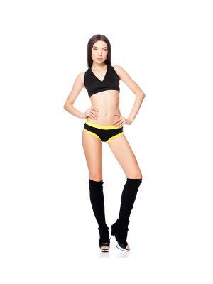 Шорты для фитнеса и полдэнс (pole dance) CRAZY POLE. Цвет: желтый, черный