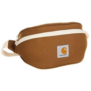 Сумка поясная  Wip Watch Hip Bag Hamilton Brown Carhartt. Цвет: коричневый,бежевый