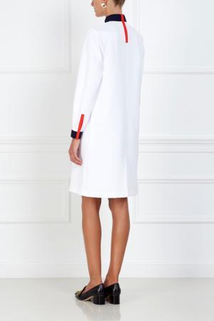 Однотонное платье VIKTORIA IRBAIEVA. Цвет: белый