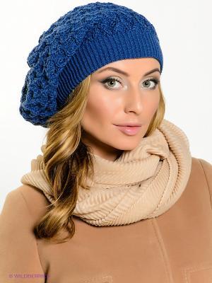 Шапка Milana Style. Цвет: темно-синий, желтый