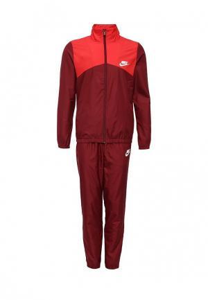 Костюм спортивный Nike. Цвет: бордовый