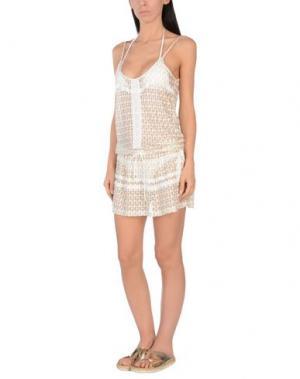 Пляжное платье MELISSA ODABASH. Цвет: золотистый