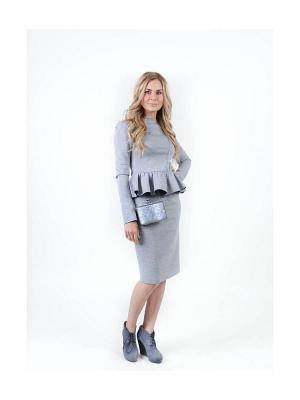 Блузка KalinaLook. Цвет: серый