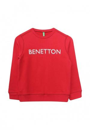 Свитшот United Colors of Benetton. Цвет: красный