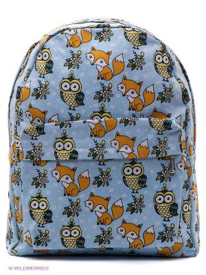 Рюкзак The Foxy Owl (светло-голубой) Kawaii Factory. Цвет: голубой