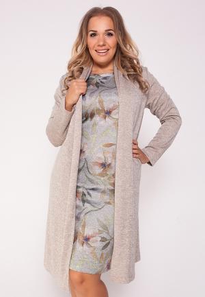 Комплект платье и кардиган Eliseeva Olesya. Цвет: разноцветный
