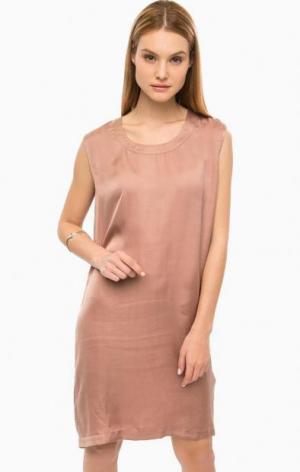 Платье средней длины без рукавов DRYKORN. Цвет: коричневый