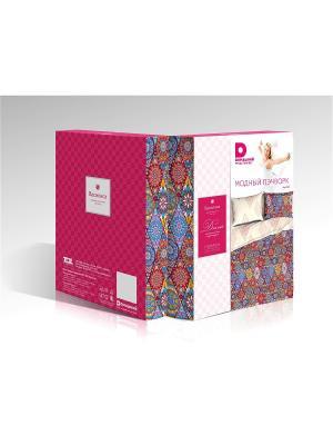 Комплект постельного белья Василиса Для нее Домашний из поплина 1,5 спальное. Цвет: бежевый,розовый,сиреневый