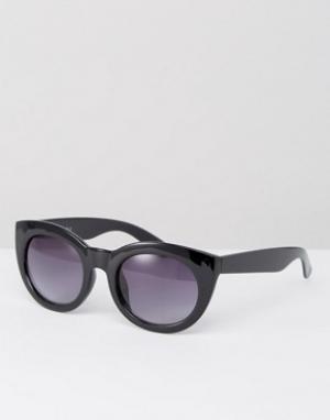 AJ Morgan Солнцезащитные очки в черепаховой оправе. Цвет: черный