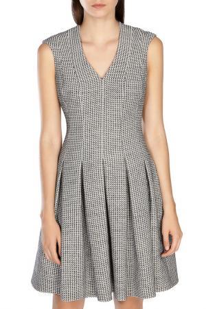 Короткое платье без рукавов Karen Millen. Цвет: neutra
